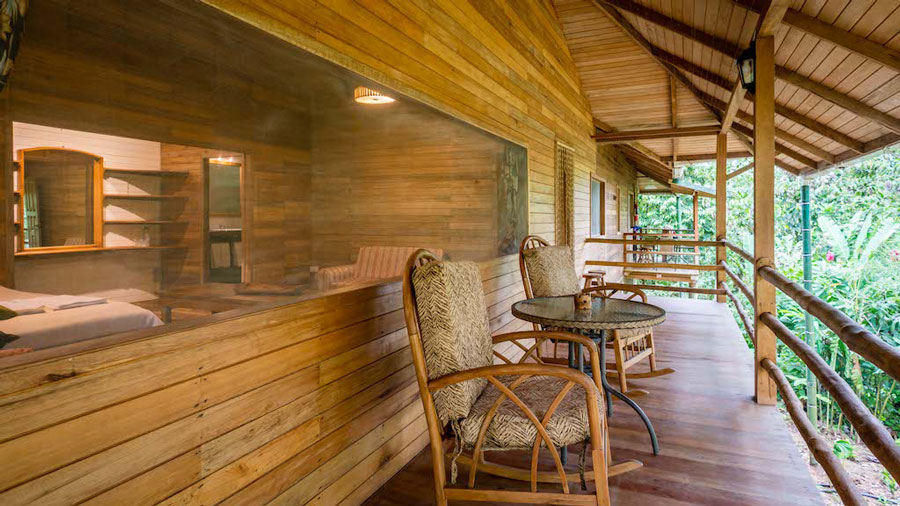 Lodge Hakuna Matata, Equateur, suite terrasse