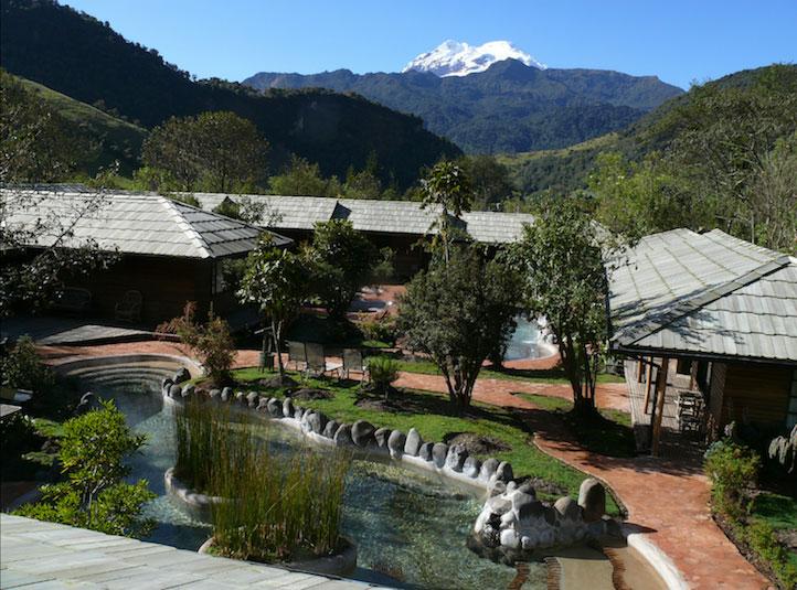 Lodge Termas de Papallacta, Equateur, vue