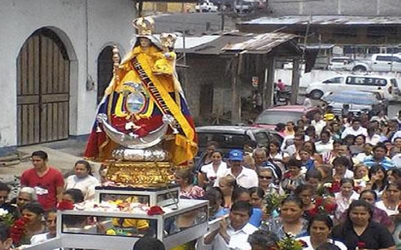 Procession de la Vierge del Quinche (Crédit photo: Radio Huencavilca)