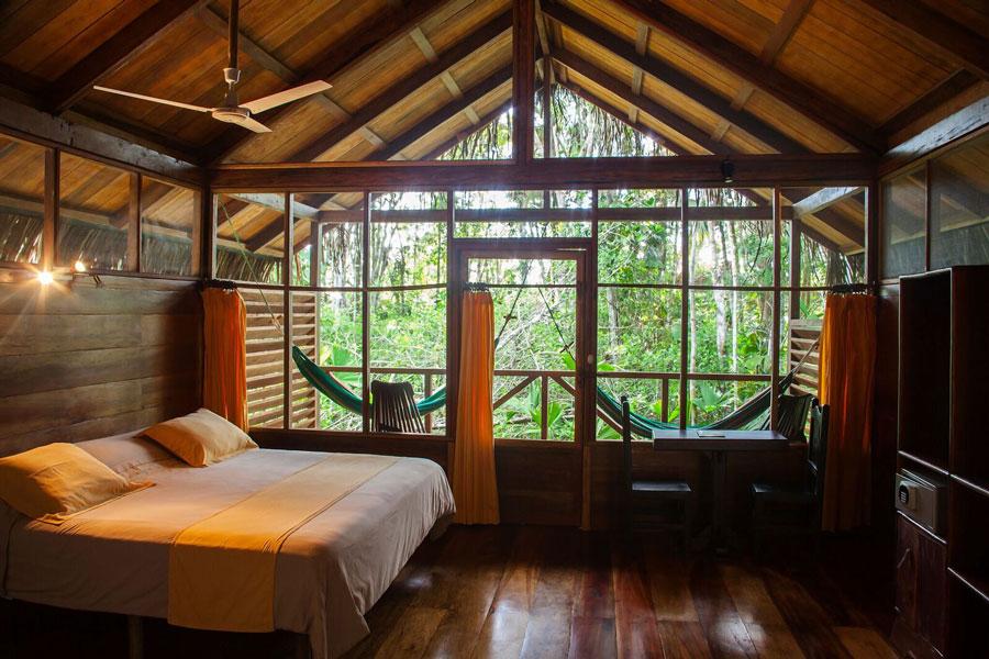 Sacha Lodge, Parc Yasuni, intérieur de la cabane