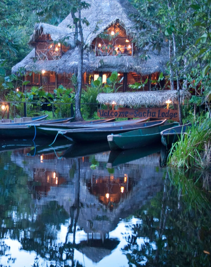 Sacha Lodge, Parc Yasuni, embarcadère