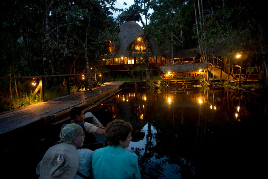 Sacha Lodge, Parc Yasuni, entrée