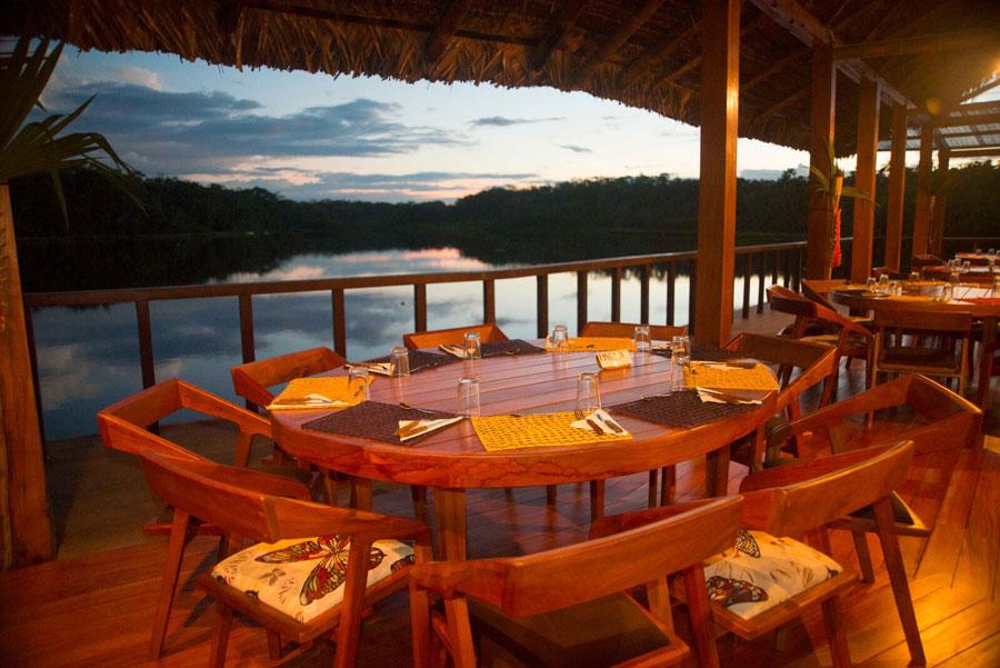 Sacha Lodge, Parc Yasuni, restaurant