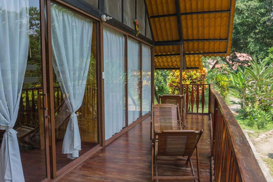 Yacuma Lodge, Amazonie, balcon