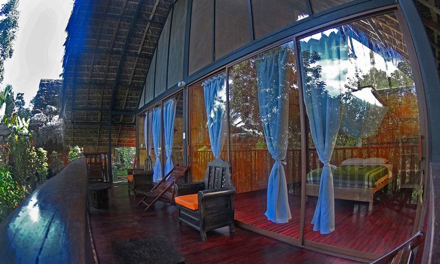 Yacuma Lodge, Amazonie, cabane