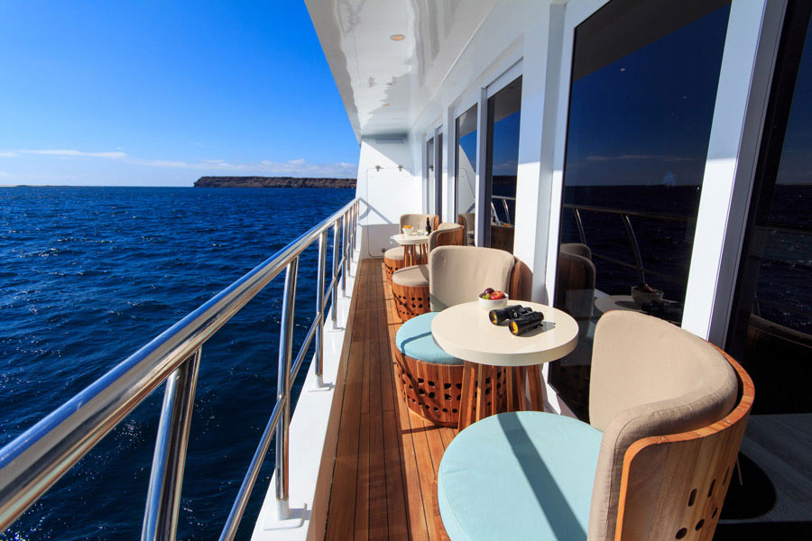 Croisière Elite Galapagos, balcon collectif