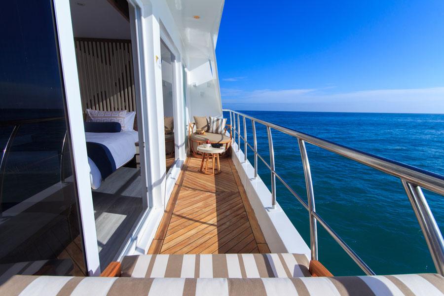 Croisière Elite Galapagos, balcon suite