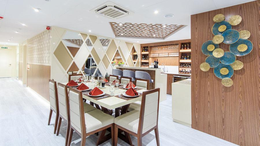 Croisière Elite Galapagos, restaurant
