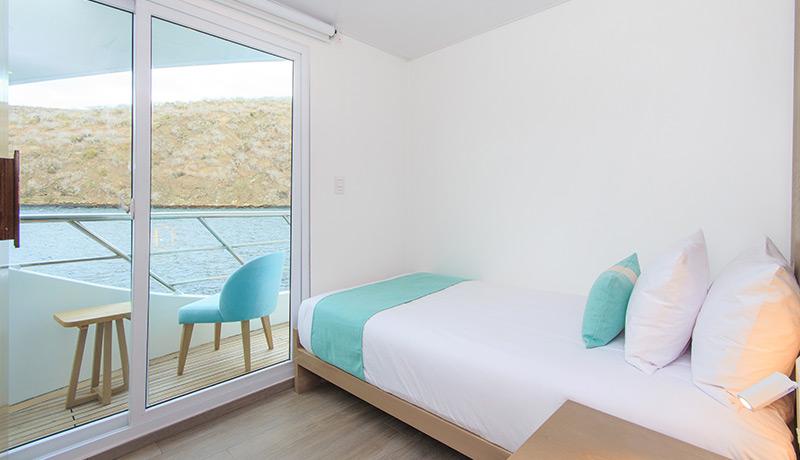 Catamaran Endemic, croisière de luxe aux Galapagos, suite single