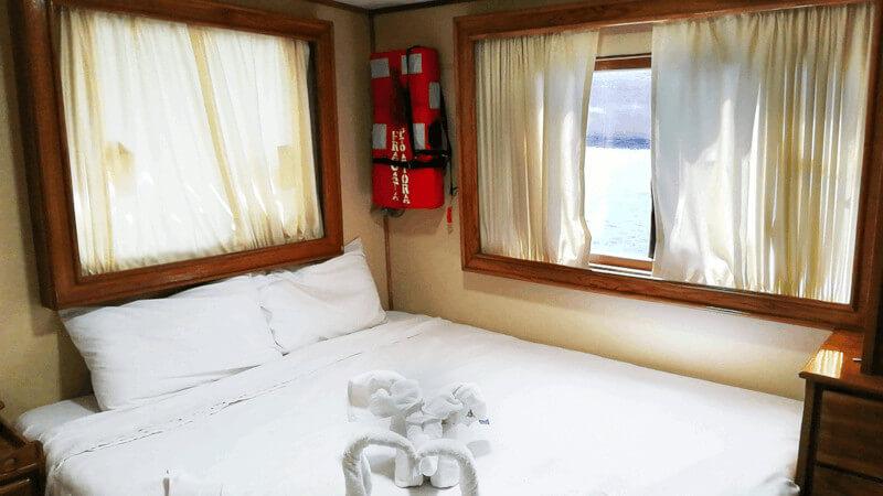 Croisière yacht Fragata aux Galapagos, cabine matrimoniale