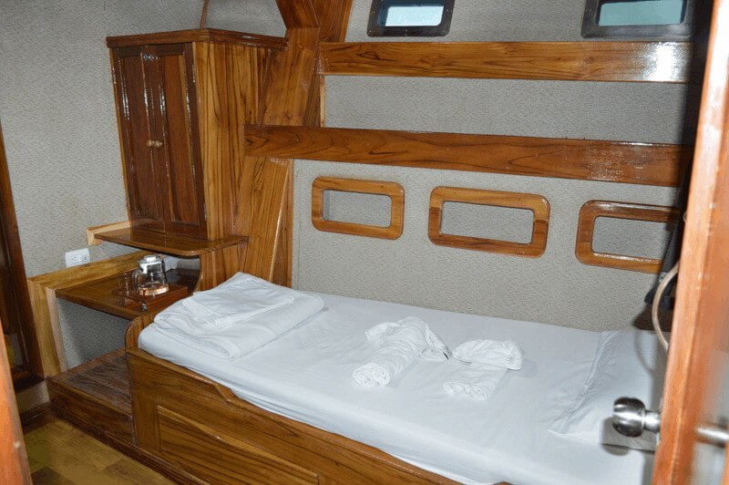 Croisière yacht Fragata aux Galapagos, cabine single