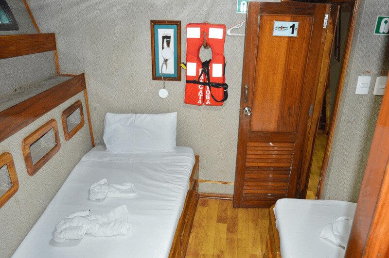 Croisière yacht Fragata Galapagos, chambre twins